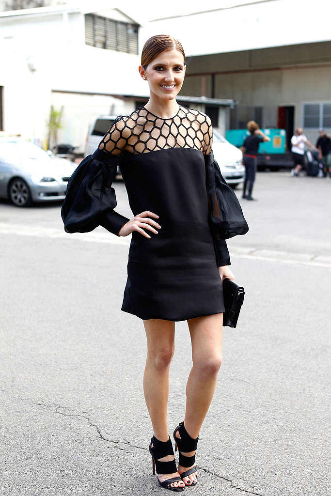 Fun cutout details gave new meaning to all-black everything.