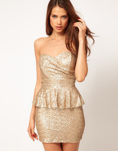 TFNC Sequin Dress with Peplums