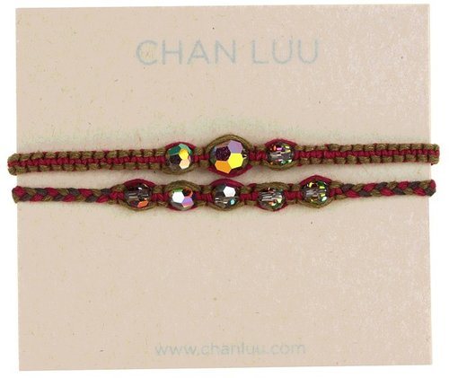 Chan Luu - 2 Pack Friendship Crystal Bracelet Ruby Mix (Ruby Mix) - Jewelry