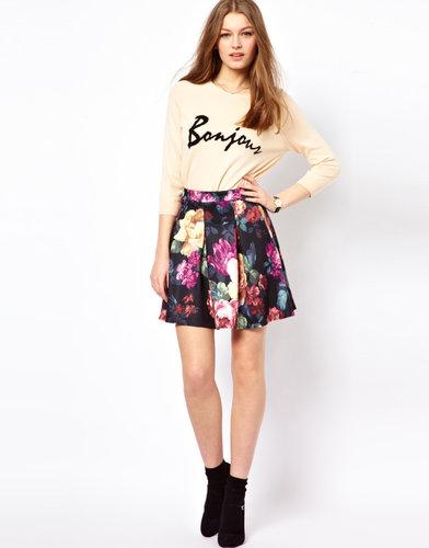 A Wear Floral Skater Skirt