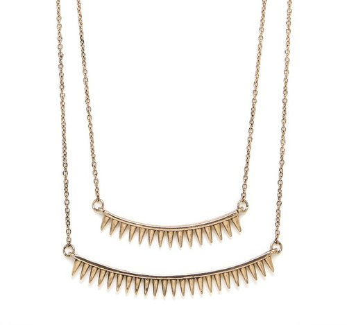 Gold Spike Tier Necklace