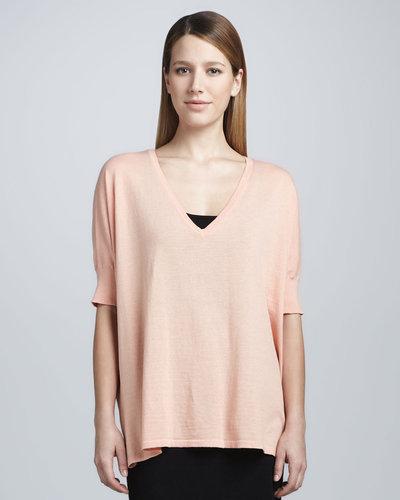 Minnie Rose V-Neck Pow Sweater