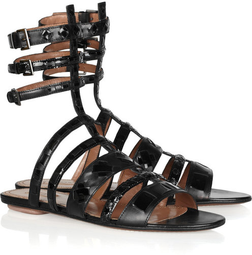 Alaïa Leather gladiator sandals
