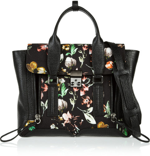 3.1 Phillip Lim The Pashli medium floral-print canvas and  leather trapeze bag