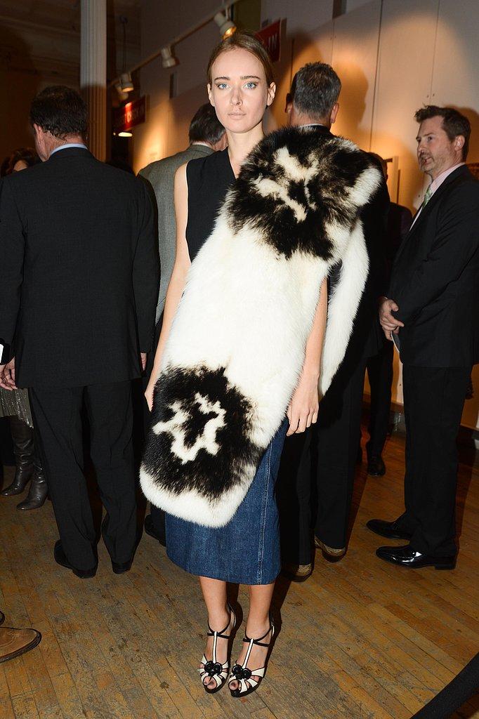 Olga Sorokina at New York Academy of Art's Tribeca Ball in New York. Photo: Billy Farrell/BFAnyc.com