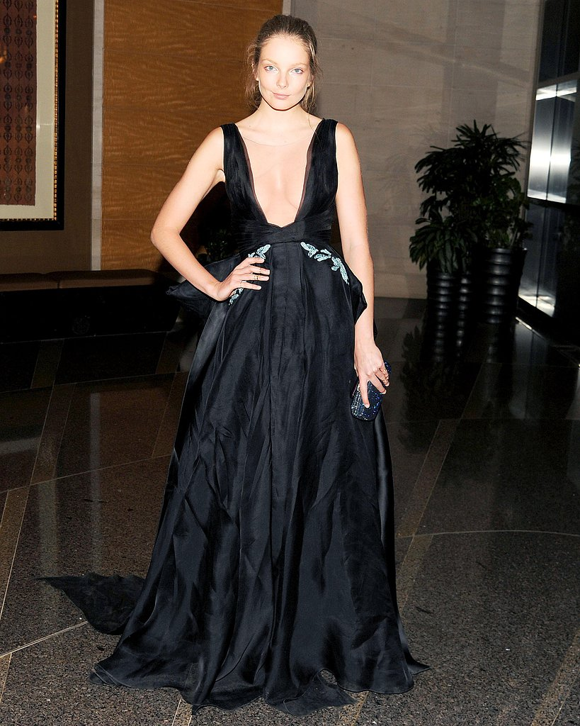 Eniko Mihalik wore Gabriela Cadena at the New Yorkers For Children 10th Anniversary Spring Dinner Dance in New York. Photo: Billy Farrell/BFAnyc.com