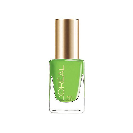 Turn people green with envy when they see the bold L'Oréal Colour Riche Polish in New Money ($5) on your toes.