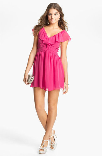 Keepsake the Label 'Lost Without You' Ruffled Mini Dress