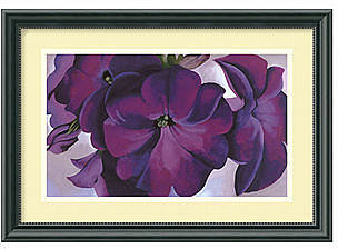Amanti Art Wall Art, Petunias 1925 Framed Art Print by Georgia O'Keeffe