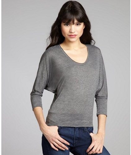 Alternative Apparel ash heather stretch jersey knit 'Sicily' dolman top