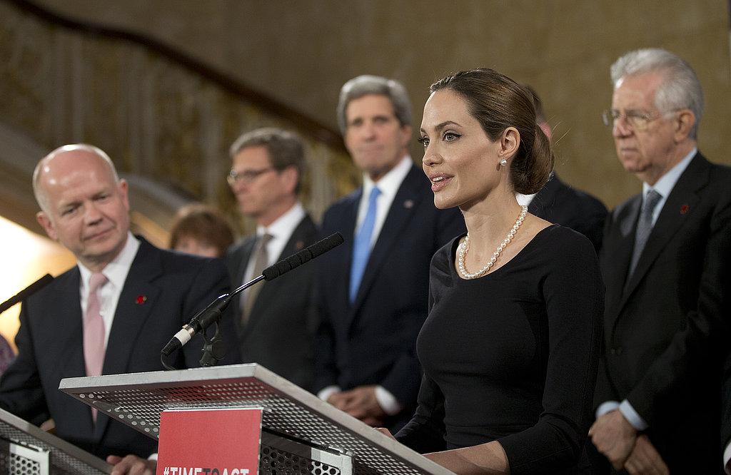 Angelina Jolie Addresses the G8 Summit in London