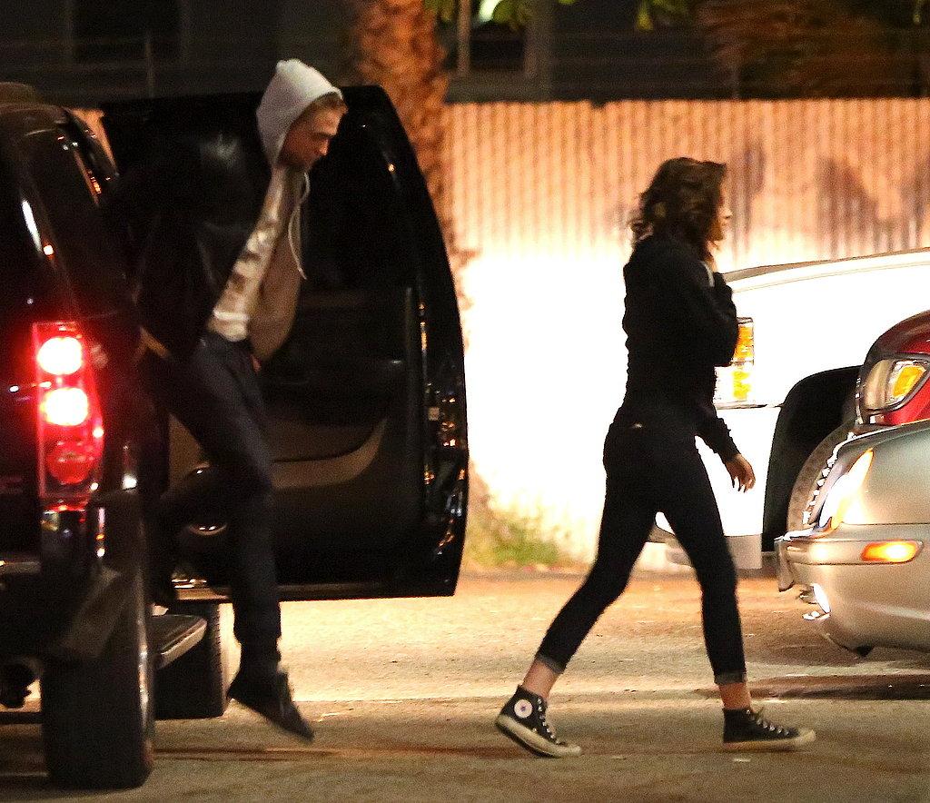 Robert Pattinson and Kristen Stewart arrived at Malo together.
