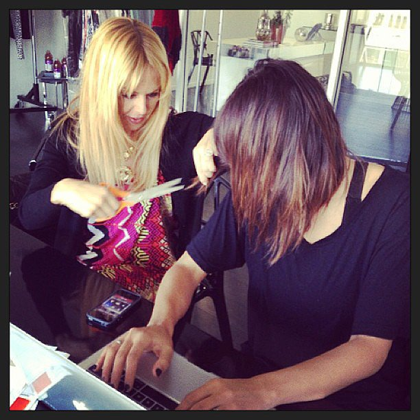 Rachel Zoe tapped into a new skill: haircutting! Source: Instagram user rachelzoe