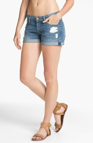 7 For All Mankind 'Josephina' Cuffed Denim Shorts (Light Destroyed)