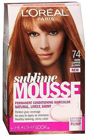 L'Oreal Sublime Mousse by Healthy Look Permanent Hair Color Dark Copper Blonde