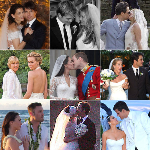 POPSUGAR Celebrity has rounded up images from over 100 of the most iconic and photogenic celebrity nuptials from the past. There are country bashes, city blowouts, and many more star-studded ceremonies to check out now.