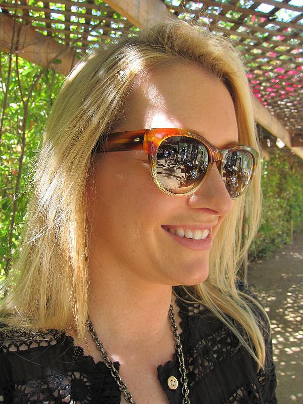 A pair of tortoiseshell sunnies keeps you polished and protected.