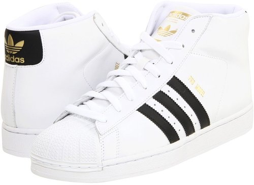 adidas Originals - Pro Model (White/Black/Metallic Gold) - Footwear