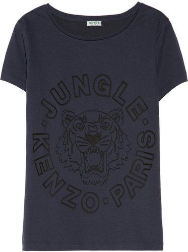 KENZO Devoré cotton-blend jersey T-shirt