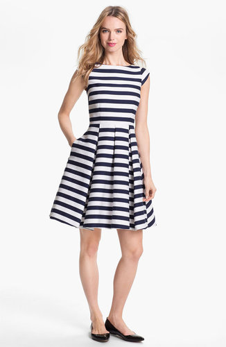 Kate Spade New York 'mariella' Cotton Blend Fit & Flare Dress