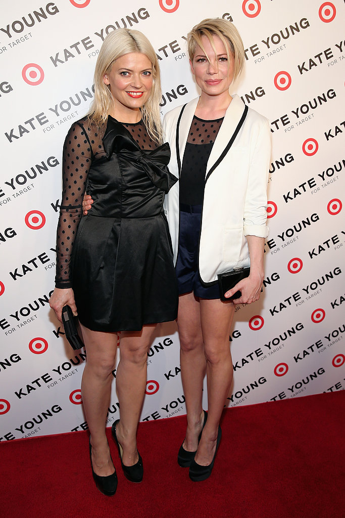 Stylist Kate young and actress Michelle Williams attended the launch of Young's collaboration with Target US in New York on April 9.