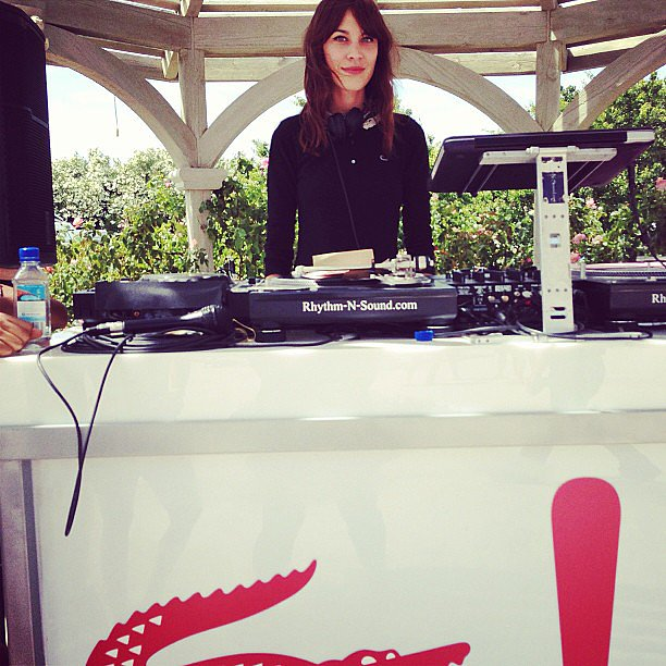Alexa Chung DJed the Lacoste party in style, naturally. Source: Instagram user lacostelive