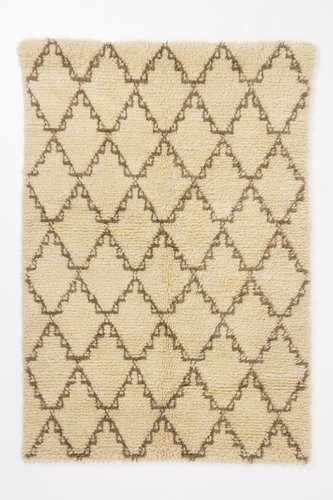 Crossed Flokati Rug