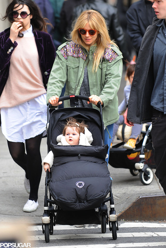 Sienna Miller took Marlowe for a stroll in NYC.