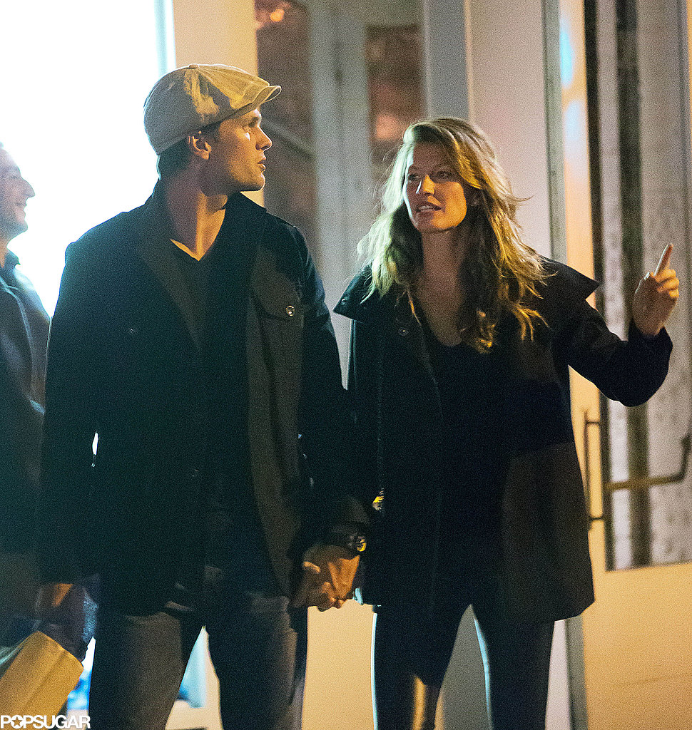Tom Brady and Gisele Bündchen held hands in NYC.