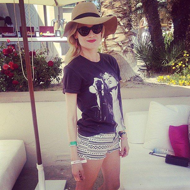 Diane Kruger was her stylish self during a Coachella party.  Source: Instagram user popsugar