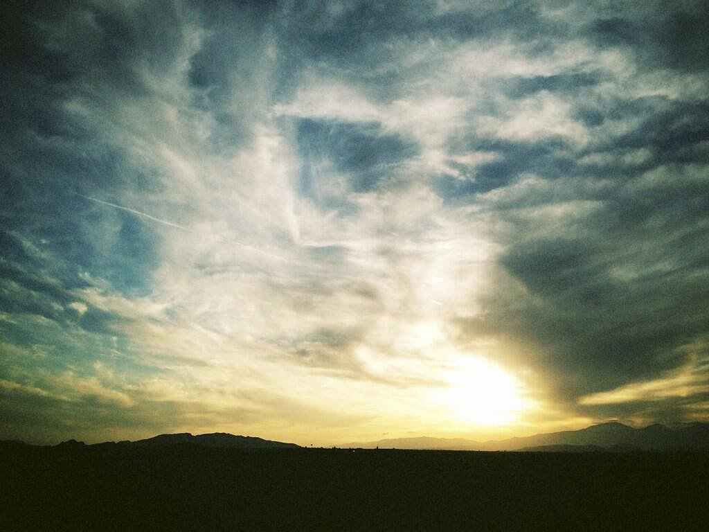 "Kate Bosworth tweeted this scenic picture with the caption, ""Destination, Indio.""  Source: Twitter user katebosworth"