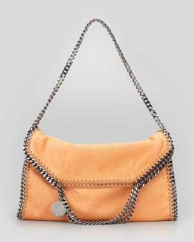 Stella McCartney Fold-Over Falabella Shoulder Tote Bag, Orange