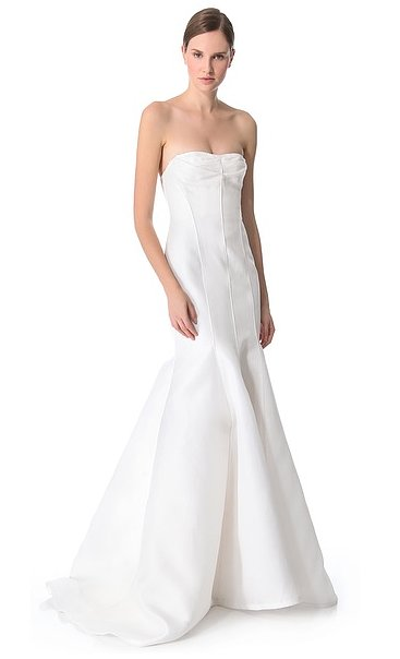 This J. Mendel strapless mermaid gown ($6,900) is all about showing off the décolletage — and that amazing skirt is a statement on its own.