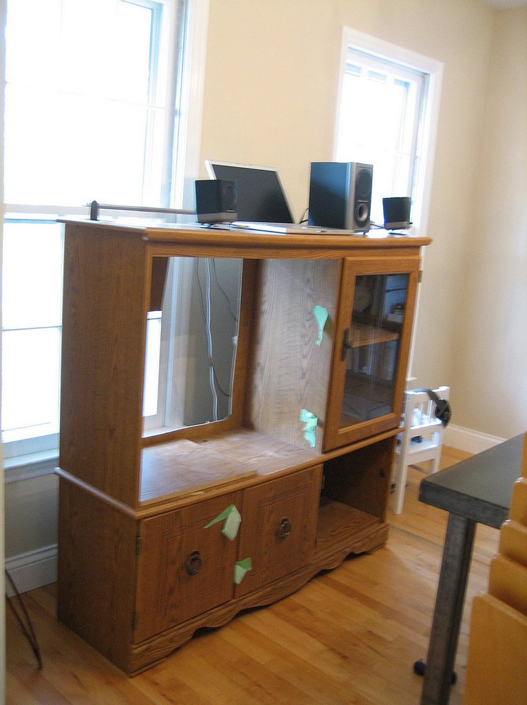 The Before: An Old Entertainment Center