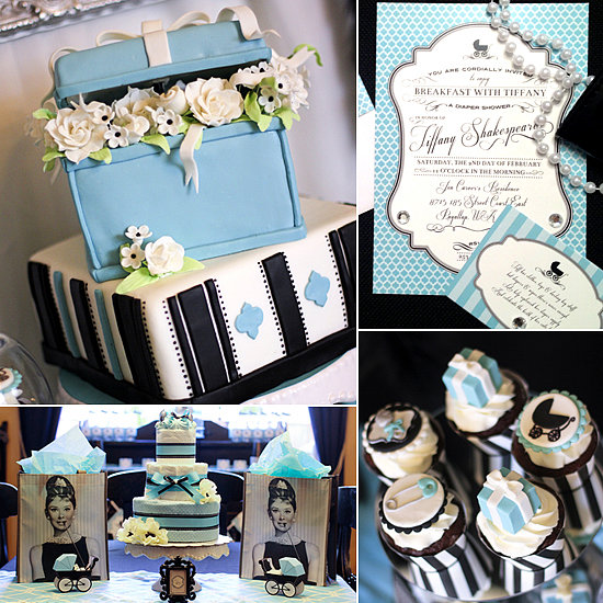 A Bold Baby Shower Inspired by Breakfast at Tiffany's