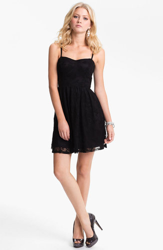 Fire Lace Skater Dress (Juniors) (Online Exclusive)