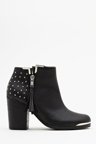 Studded Ankle Boot - Black