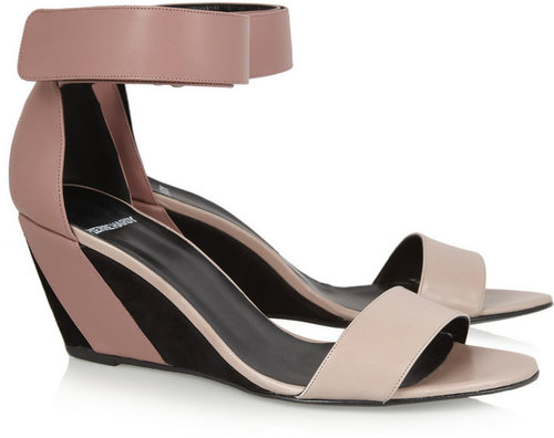 Pierre Hardy Leather and suede wedge sandals