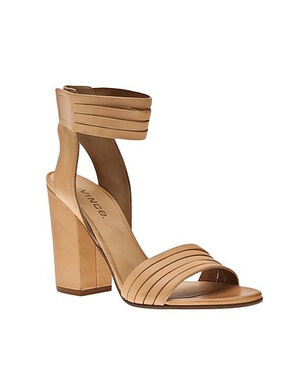 From the sturdy sole to the cool sliced leather work, Vince's Lara sandal ($375) is perfect in every way.