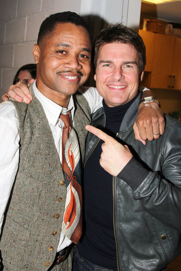 Tom Cruise visited Cuba Gooding Jr. backstage at The Trip to Bountiful .