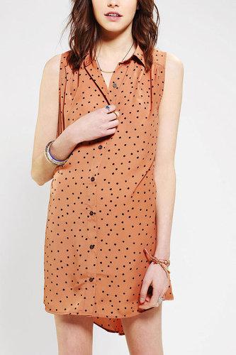MINKPINK Dotty Sleeveless Shirtdress