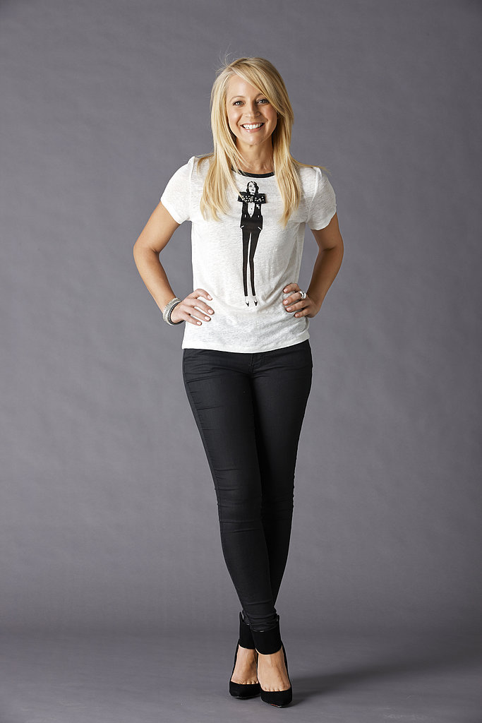 Carrie Bickmore tried on the OCRF motif tee.