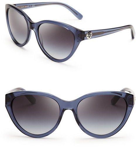 Tory Burch Logo Cat Eye Sunglasses