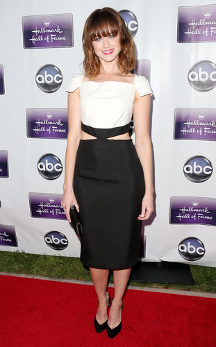Alexis Bledel was the perfect mix of demure and sexy in her black and white Pamella Roland cutout dress at the premiere of Remembering Sunday in LA.