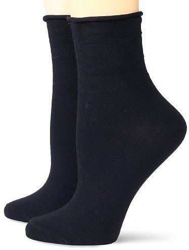 Steve Madden Legwear Women's 2 Pack Roll Cuff Anklet