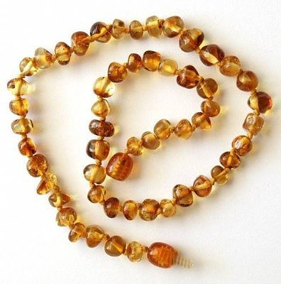 Baroque Honey Amber Teething Necklace ($15)