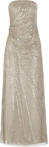 Paul & Joe Floride strapless beaded tulle gown
