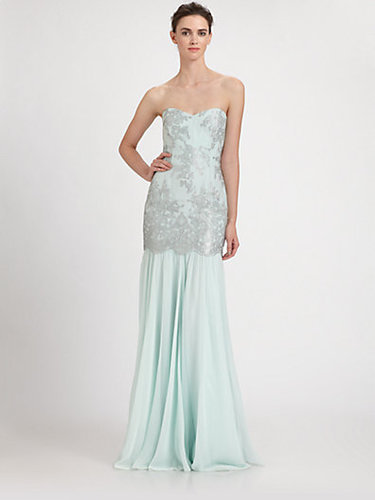 Badgley Mischka Lace Overlay Gown