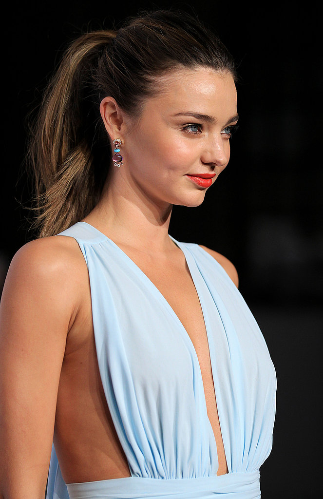 Miranda's swept-back ponytail showed off her bold lip at the 2012 Women of Style Awards in Australia.