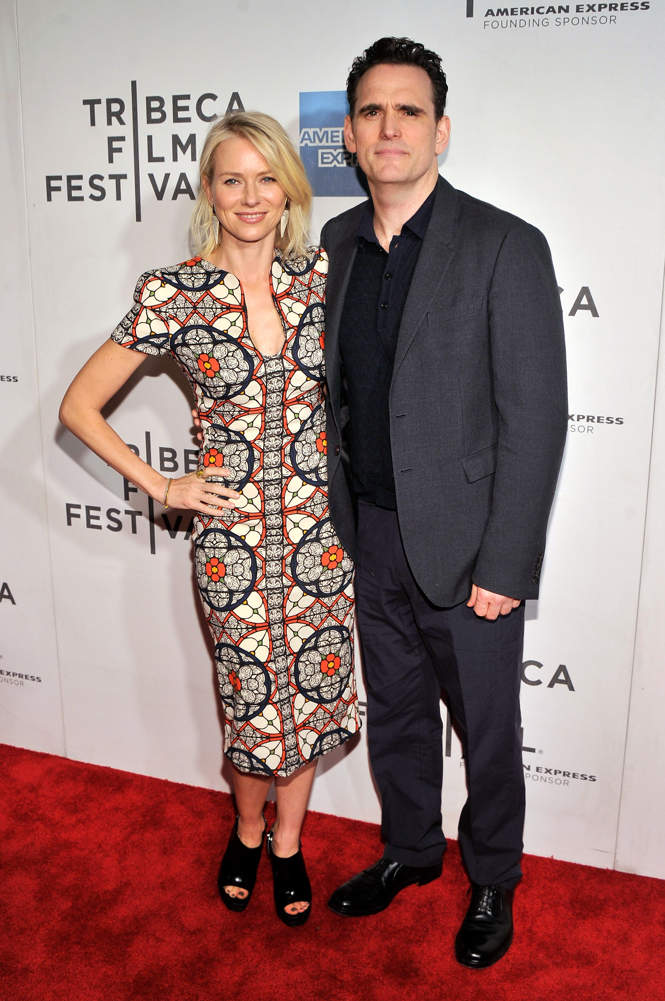 Naomi Watts linked up with Matt Dillon for the premiere of Sunlight Jr.